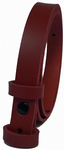 20mm Red Snap Fit Leather Belt